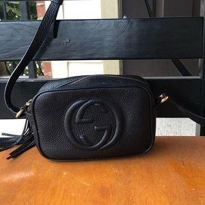 Gucci Black Leather Crossbody